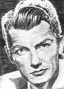 Old Drawings Posters - Jean Marais 2 Poster by Kate Black