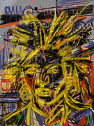 Neo-expressionism Prints - Jean Michel Print by Russell Pierce