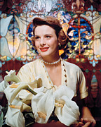 1950s Portraits Photo Acrylic Prints - Jean Peters, 1950s Portrait Acrylic Print by Everett