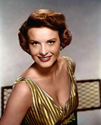 1950s Portraits Framed Prints - Jean Peters, Ca. 1950s Framed Print by Everett