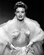 Tulle Prints - Jean Peters, Ca. Mid-1950s Print by Everett