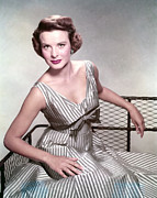 Striped Dress Art - Jean Peters, In The Film, A Man Called by Everett