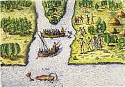 Jean Ribault: Florida, 1562 Print by Granger
