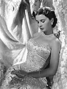 Strapless Dress Framed Prints - Jean Simmons Framed Print by Everett