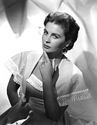 Earrings Photo Posters - Jean Simmons, Portrait Poster by Everett