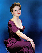 Plunging Neckline Framed Prints - Jeanne Crain, 1953 Framed Print by Everett
