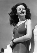 Outdoor Portrait Prints - Jeanne Crain, Ca. 1944 Print by Everett