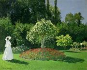 Jeanne Posters - Jeanne Marie Lecadre in the Garden Poster by Claude Monet