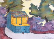 Works Drawings Originals - Jeans Bathhouse by Saundra Lee York