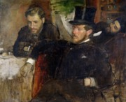 Gentlemen Paintings - Jeantaud Linet and Laine by Edgar Degas