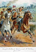 Guerilla Prints - Jeb Stuarts Cavalry 1862 Print by Granger
