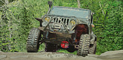 Jeff Taylor Prints - Jeep on the Rocks Print by Jeff Taylor