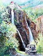 Countryroad Framed Prints - Jeeping at Bridal Falls  Framed Print by Linda Shackelford