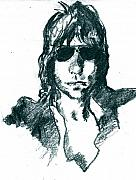 Jeff Drawings - Jeff Beck 1 by David Ritsema