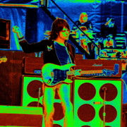 Concert Photos Digital Art - Jeff Beck Live in Concert 1976 by Ben Upham