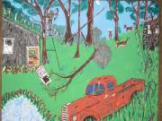 Farm Stand Paintings - Jeff bowhunting by Jeffrey Koss