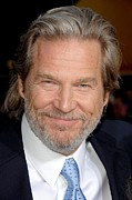 Ironman Photo Framed Prints - Jeff Bridges At Arrivals For Premiere Framed Print by Everett