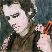 Contemporary Posters - Jeff Buckley Poster by Cassius Cassini