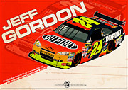 Evan DeCiren Art - Jeff Gordon - Nascar 2010 by Evan DeCiren