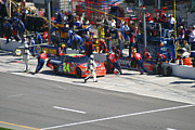 Racing Number Photos - Jeff Gordon Pit Crew In Action by Kym Backland