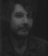 Songwriter Drawings Posters - Jeff Tweedy Poster by Dan Lockaby