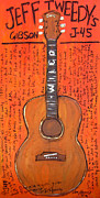 Alternative Music Paintings - Jeff Tweedys Gibson J-45 by Karl Haglund