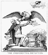 Political Allegory Metal Prints - Jefferson: Cartoon, 1800 Metal Print by Granger