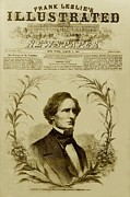 1860s Framed Prints - Jefferson Davis 1808-1889, First Framed Print by Everett