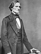 19th Century America Prints - Jefferson Davis Print by American Photographer