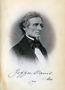 1850s Posters - Jefferson Davis, Senator Poster by Everett
