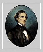President Jefferson Framed Prints - Jefferson Davis Framed Print by War Is Hell Store