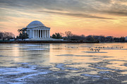 Jefferson Memorial Tapestries Textiles - Jefferson by JC Findley