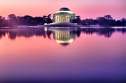 President Jefferson Posters - Jefferson Memorial at Sunrise 1 Poster by Val Black Russian Tourchin