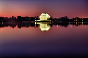 President Jefferson Framed Prints - Jefferson Memorial at Twilight Framed Print by Val Black Russian Tourchin