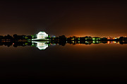 President Jefferson Prints - Jefferson Memorial Before Sunrise 1 Print by Val Black Russian Tourchin