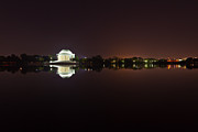 President Jefferson Prints - Jefferson Memorial Before Sunrise 2 Print by Val Black Russian Tourchin