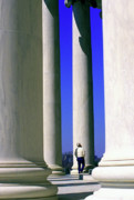 Jefferson Memorial Tapestries Textiles - Jefferson Memorial Columns by Thomas R Fletcher