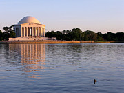 Tidal Framed Prints - Jefferson Memorial Framed Print by Olivier Le Queinec