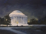 Memorial Painting Posters - Jefferson Memorial  Poster by Torrie Smiley