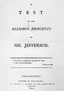 Principle Prints - Jefferson: Pamphlet, 1800 Print by Granger