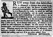 Runaway Framed Prints - Jefferson: Runaway Slave Framed Print by Granger