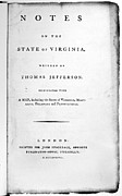 Jefferson: Title Page, 1787 Print by Granger