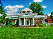 Mansion Digital Art - Jeffersons Monticello by Dan Stone
