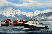 Artist James Williamson Fine Art Prints Prints - JEFFREY FOSS Samson Tow Print by James Williamson