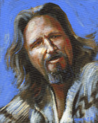 Award Painting Acrylic Prints - Jeffrey Lebowski - The Dude Acrylic Print by Buffalo Bonker