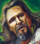 Bridges Painting Posters - Jeffrey Lebowski The Dude Poster by Buffalo Bonker