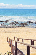 Rocky Beach Prints - Jeffreys Bay Print by Benjamin Matthijs