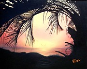 Jekyll Island Sunrise Print by Karen Casciani