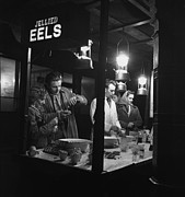 London Shopping Posters - Jellied Eel Stall Poster by Picture Post