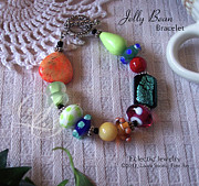 Bracelet Art - Jelly Bean Bracelet by Laura Swink